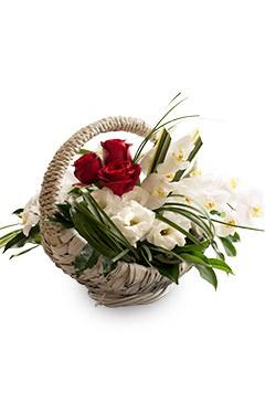 خرید سبد گل تیارا