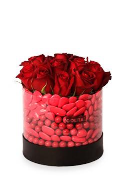 خرید باکس گل عشق دوستداشتنی